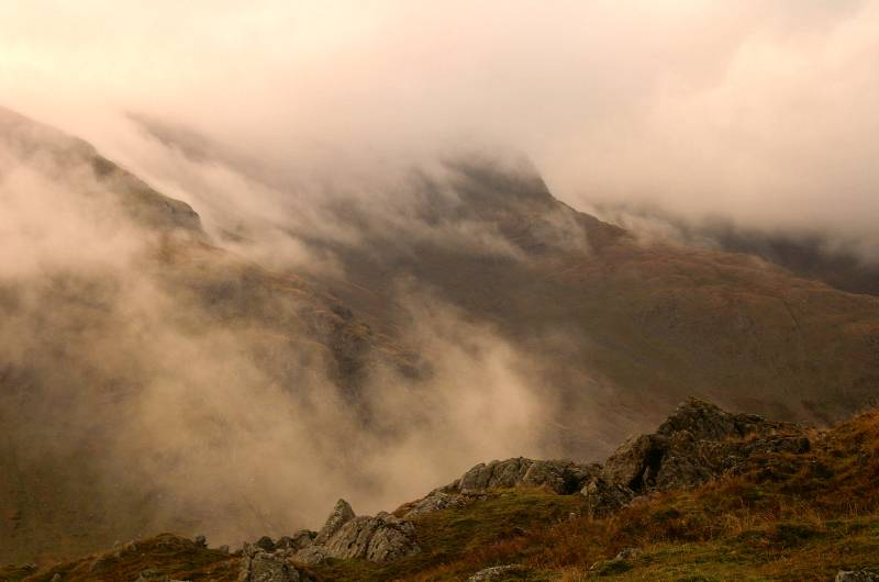 Helvellyn in the Mist.